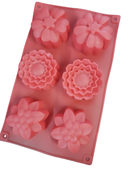 Flower silicone soap or baking mould