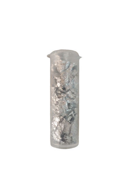 Edible Silver Leaf Bits, small vial