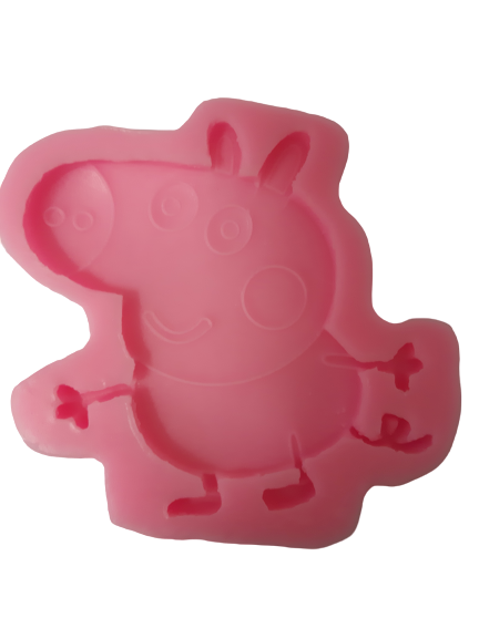 Peppa pig silicone mould, for fondant, size of moulds 7x8cm