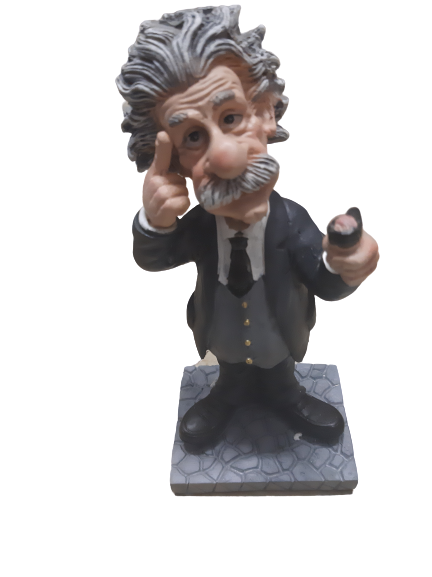Einstein Science resin figurine 17cm, B
