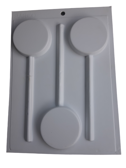 Hard Plastic Lollipop mould, large round 6.4cm