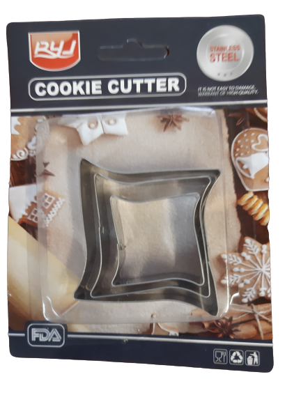 Frame metal cookie cutter 5cm, 4cm, 3cm