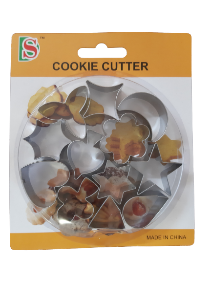 12 piece small cookie cutters