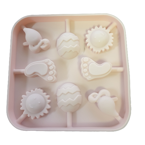 Sun, Easter egg, foot 3cm Lollipop Silicone  mould,
