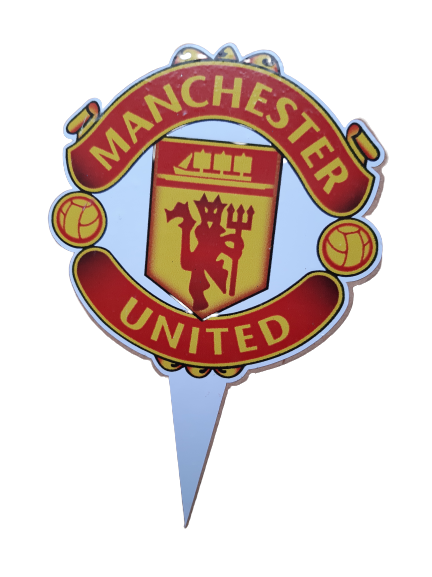 Wooden Manchester united Cake Topper