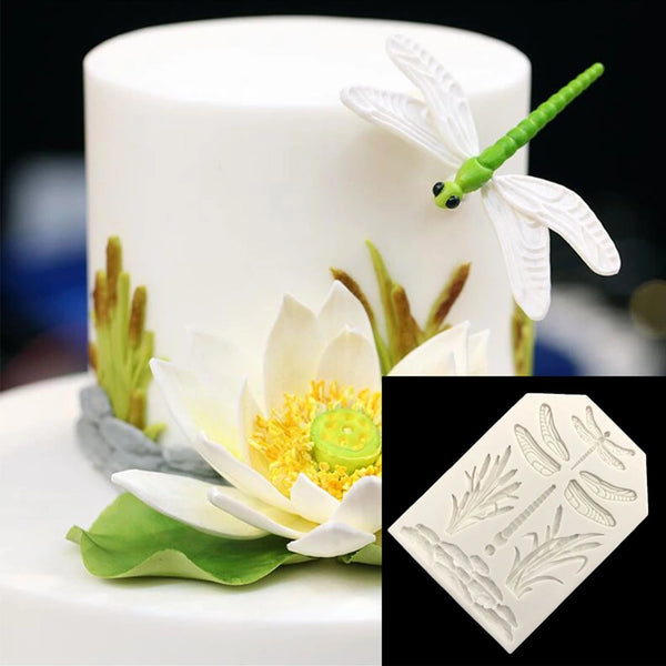 Dragonfly Silicone mould, grass 6x3cm