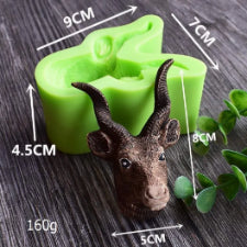 3D Buck head silicone mould