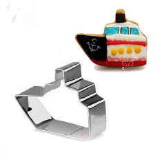 Boat cookie fondant cutter metal, 7.5x5cm