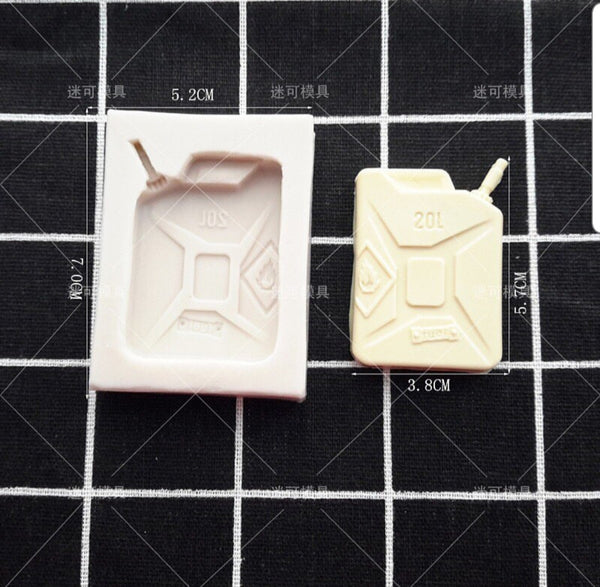 Army Petrol can silicone mould, 3.5x5cm