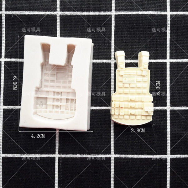 Army bulletproof Jacket silicone mould, 5x2.2cm