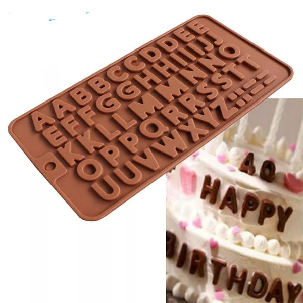 AA Alphabet Chocolate truffle alphabet silicone mould