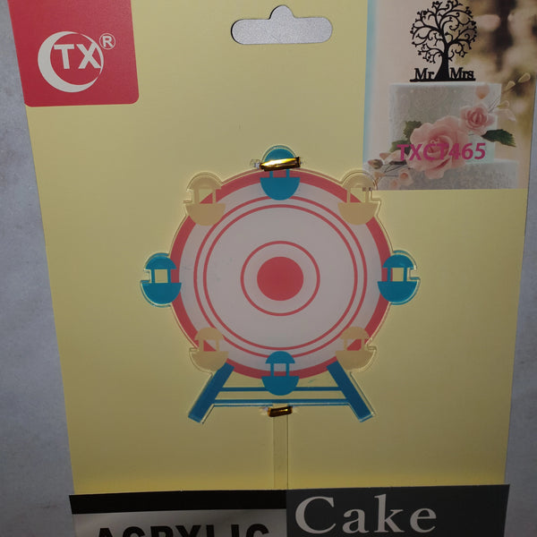 Acrylic cake topper Carnival Big Wheel, (nr7)