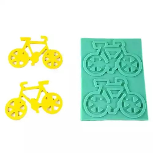 Bicycle silicone mould, for fondant, size of bicycle 9.5x6.5cm