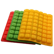 Alphabet Gummy, Chocolate blocks silicone mould, 2x2cm