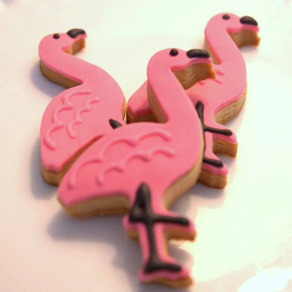 Flamingo Hawaii plastic cookie cutter, 7.3x5cm