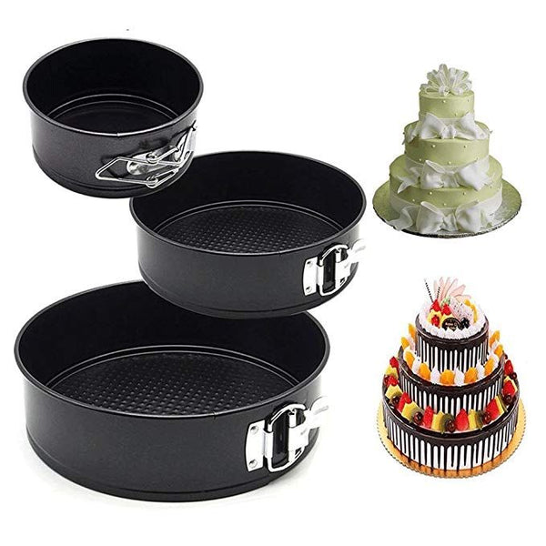 Round springform 3pc cake pan set