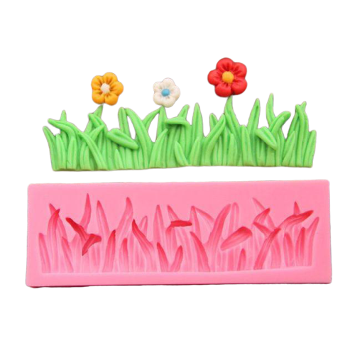 Grass silicone mould, for fondant, size of mould 12x4cm