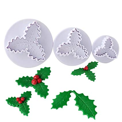 Holy Christmas Leaf Fondant plunger Cutter