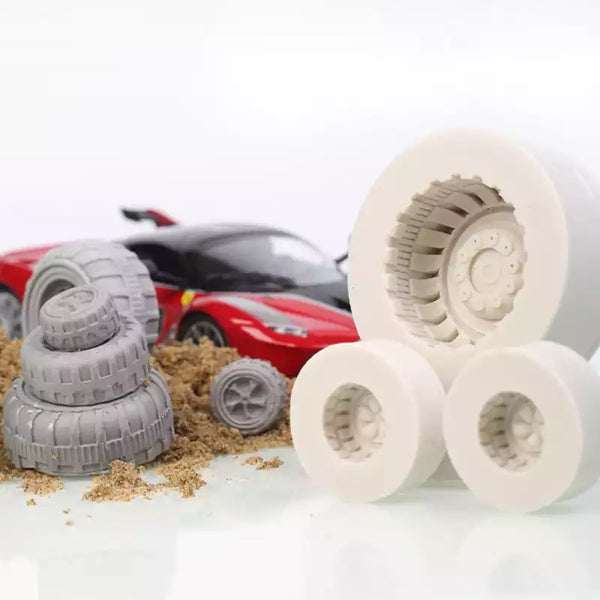 Tyre set silicone fondant mould.