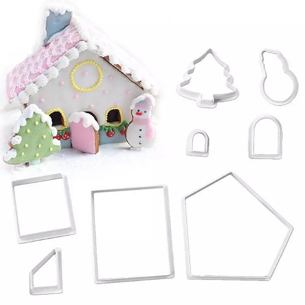Gingerbread house cookie cutter set Christmas