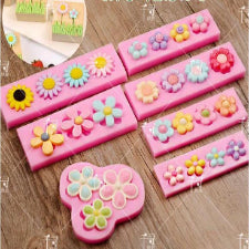 7 Piece various flower silicone mould set