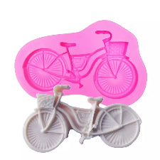 Silicone Bicycle fondant mold, size of mold 9x5.5cm