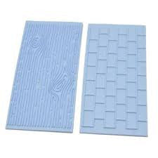 Fondant brick wall and tree embosser, double pack
