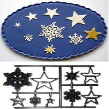 Patchwork Embosser cutters, snowflakes