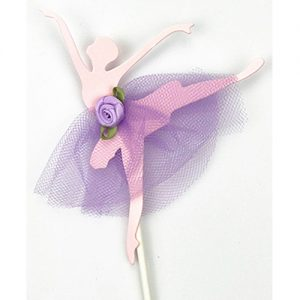 4 Ballerina cupcake toppers, NB! light pink