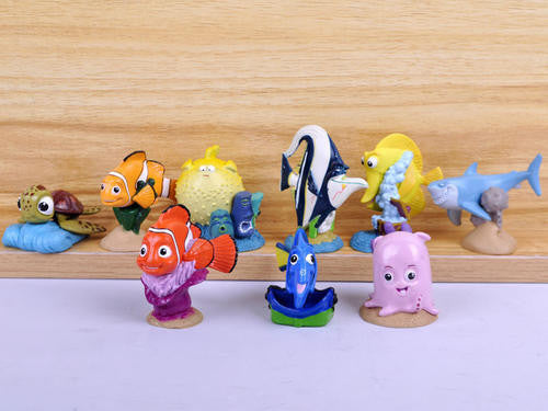 FISH nemo Figurine set, 4-6.5cm, perfect to use as cake toppers