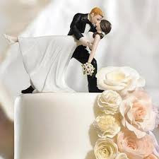 Wedding bride and groom cake topper 11cm-A