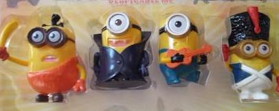 Minion  plastic figurine set, perfect to use as cake toppers