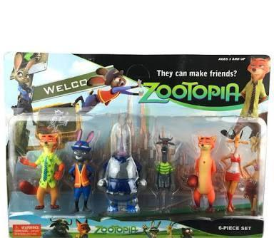 Zootopia zootropilis figurine set perfect for cake topper