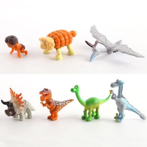 The good dinosaur plastic figurine set. perfect for cake toppers, height +-4.5cm