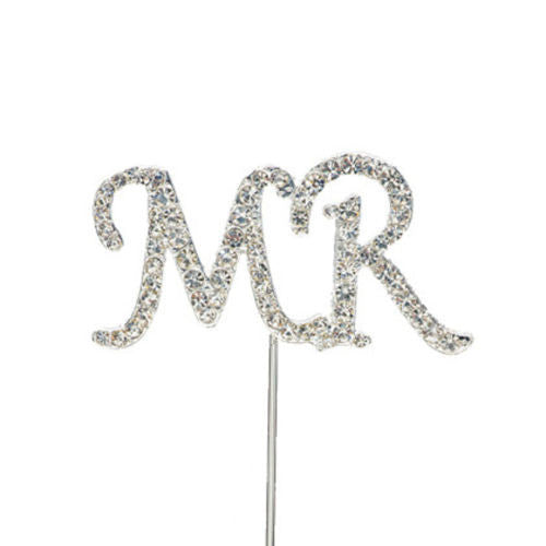 Diamante MR cake topper A, +- 9.5x9cm