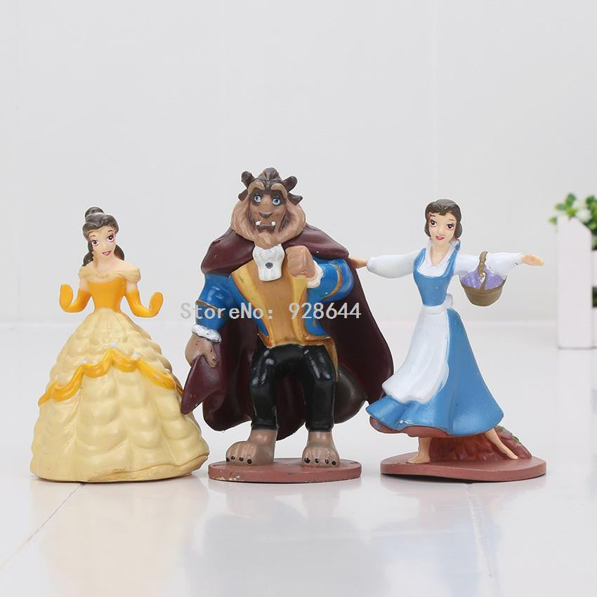 Beauty and the beast cake topper figurines, size of beast 9x7cm, NB! no packaging