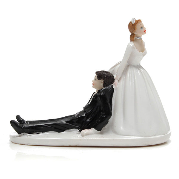 Wedding bride and groom cake topper