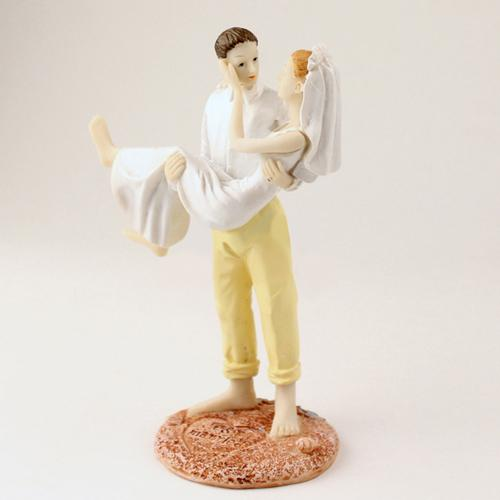 Bride and Groom wedding topper Beach