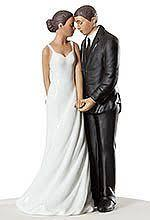 Bride and Groom wedding topper Black couple
