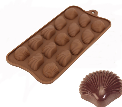 Shell Chocolate truffle silicone mould, L