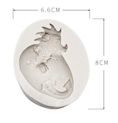 Game of Thrones Dragon B silicone mould, 7x4.5cm