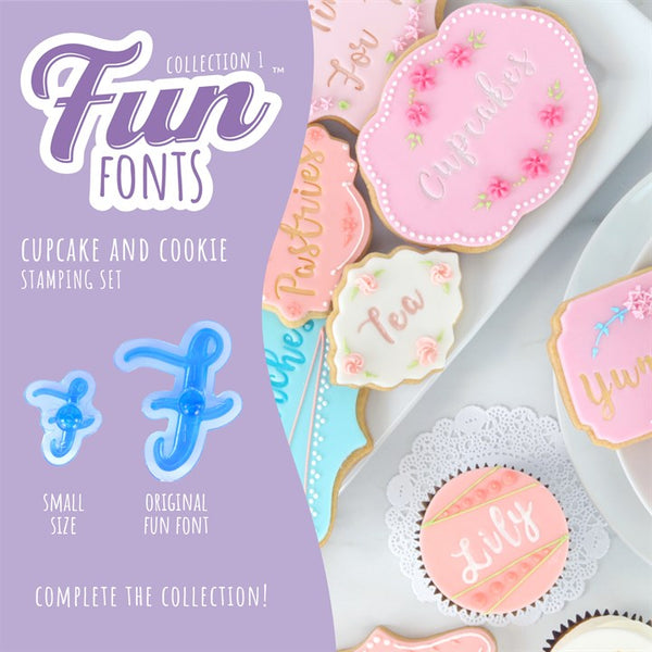 PME. Fun fonts cupcake and cookie stamping kit