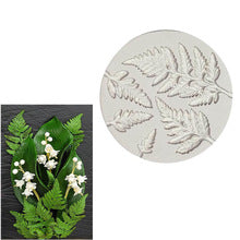 Fern leaves silicone mould, biggest leaf 8x4cm