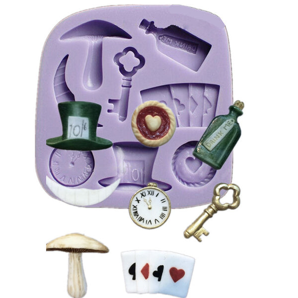 Alice in Wonderland silicone mould
