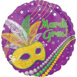 45cm Mardi gras party Foil Balloon