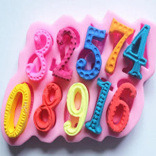 Number silicone mould, +-3.7x2cm