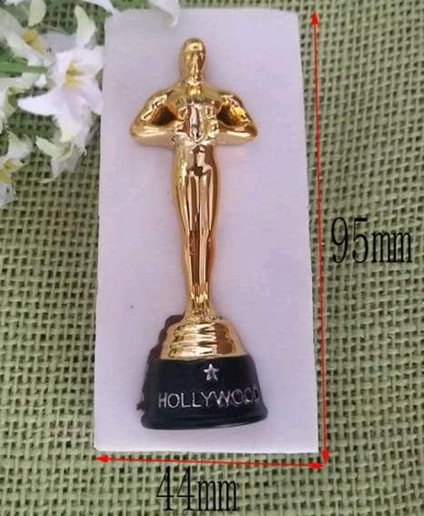 Oscar Trophy silicone mould, 7.5x2.5cm