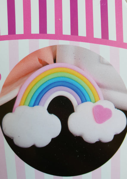 Rainbow and cloud cutter set, outer rainbow 10x6.5cm