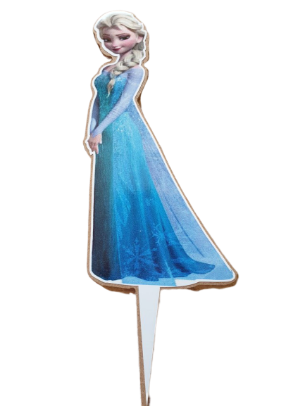 Wooden Frozen Elsa Cake Topper