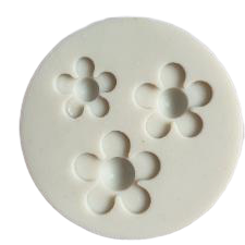 Blossom flowers silicone mould, 2.5cm, 2.1cm, 1.7cm